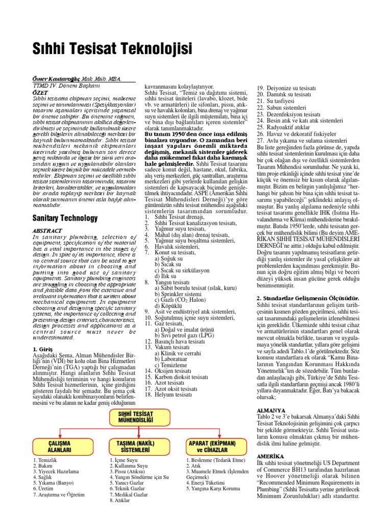 Boru tesisatı: temel kavramlar