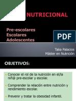 Nutricion Preescolar, Escolar y Adolescentes V1