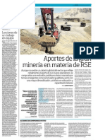 RSE - Aportes de la gran minería en materia de RSE