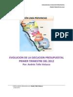 Evolucion de La Ejecucion Presupuestal - Región Lima