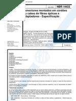 NBR 14433 - Conectores Montados Em Cordoes Ou Cabos de Fibras Opticas e Adaptadores - Especificac
