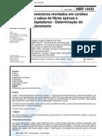 NBR 14435 - Conectores Montados Em Cordoes Ou Cabos de Fibras Opticas e Adaptadores - Determinaca