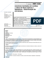 NBR 14446 - Conectores Montados Em Cordoes Ou Cabos de Fibras Opticas E Adaptadores - Determinaca