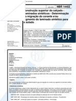 NBR 14452 - Construcao Superior Do Calcado - Laminados Sinteticos - Determinacao Da Migracao Do c