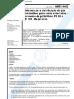 NBR 14463 - Sistemas Para Distribuicao de Gas Combustivel Para Redes Enterradas - Conexoes de Pol