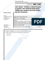NBR 14489 - Motor Diesel - Analise E Determinacao Dos Gases E Do Material Particulado Emitidos Po