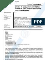 NBR 14534 - Torneira de Boia Para Reservatorios Prediais de Agua Potavel - Requisitos e Metodos d