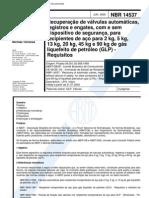 NBR 14537 - Recuperacao de Valvulas Automaticas Registros E Engates Com E Sem Dispositivo de Segu