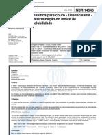 NBR 14546 - Insumos Para Couro - Desencalante - Determinacao Do Indice de Solubilidade
