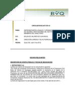 BOLSA DE VALORES DE QUITO - Inf Circular 078