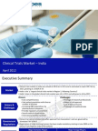 Market Research Report :Clinical trials market in India 2012