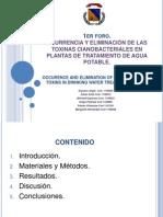 Presencia de Microtoxinas en PTAP