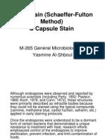 Spore Stain (Schaeffer-Fulton Method)