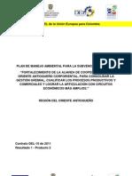 Plan de Manejo Ambiental para el fortalecimiento de la alianza de cooperativas del Oriente Antioqueño Corporiental, para consolidar gestión gremial, cualificar los procesos productivos y comerciales y lograr la articulación con circuitos económicos mas amplios