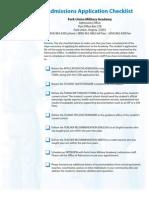 FUMA ApplicationChecklist JAN2011