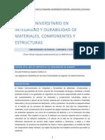 Máster Universitario en Integridad y Durabilidad de Materiales. Componentes y Estructuras.