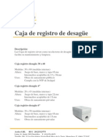 Caja de Registro de Desague