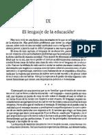 Bruner, El Lenguaje de La Educacin