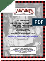 Dinner - Carmine's Dc - Special Event Menus - 01-01-2012 - Rose Horigan