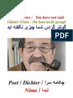 Günter Grass  ; Du hast nicht gesagt