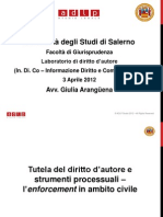 Slides Laboratorio Copyright  Tutela di diritto d'autore ed enforcement