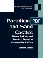 Paradigms and Sand Castles Theory Building And