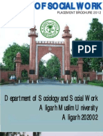 Placement Brochure'2012 for Web of  2010-12 batch of Department of Social Work, Aliagrh Muslim University