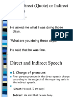 Direct and Indirect Speech -(With Examples and Exercises)