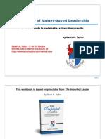 ThePowerofValuesBasedLeadership Sample