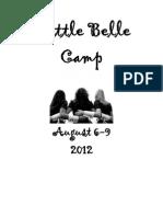 Bengal Belle Summer Dance Camp-packet 2012