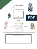Mary Garden Handout - Lower Grades
