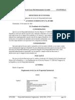 Reglamento a Ley Propiedad Industrial