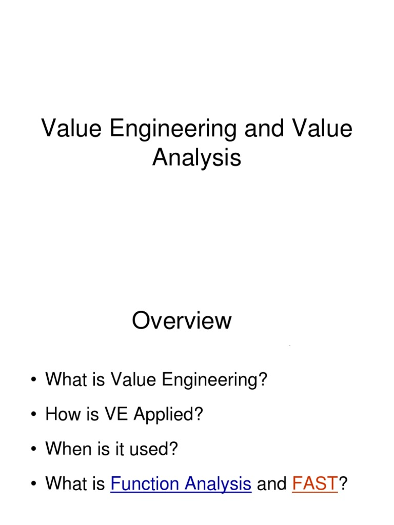 Value engineering ppt reliability engineering quality business ccuart Images