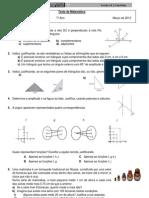 7ºF4ºTeste de Matemática