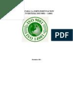 Guía implementación del sistema ISO 9001+14001Rev1
