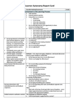 Adult Learner Autonomy Checklist