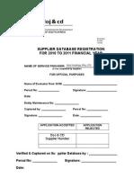 2010 Supplier Application Eform
