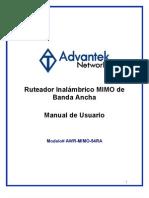 AWR-MIMO-54RA (Spanish User Manual)