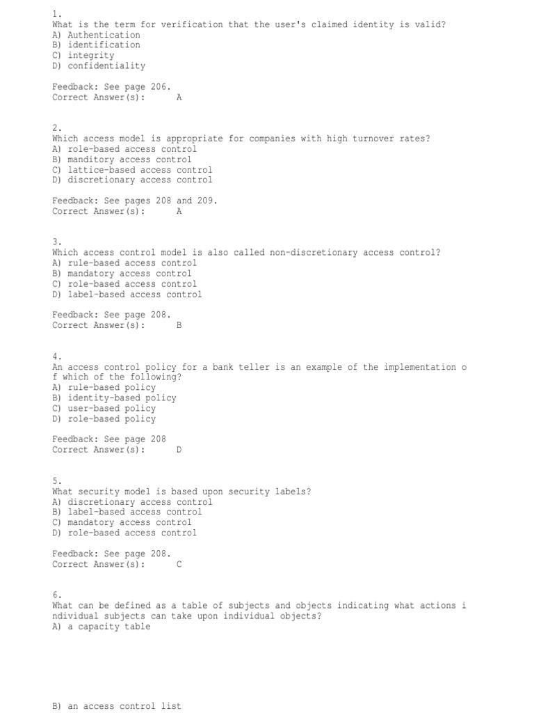 ET 115 Chapter 10 | Access Control | Authentication
