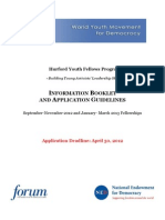Information Booklet and Application Guidelines - Hurford Youth Fellows