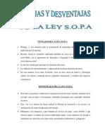 Ventajas y Desventajas Ley s.o.p.A