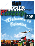 Scottish PSC Newsletter dedicated to Welcome To Palestine 2012 Mission