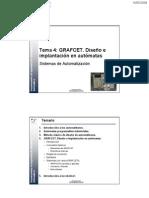 Tema 4 GRAFCET Diseno Implantacion en Automatas