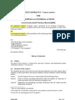 Service Contract Annex I