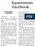 Snohomish Tribune article on government agency using facebook