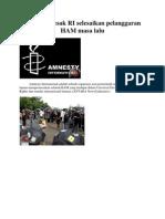 Amnesty Desak RI Selesaikan Pelanggaran HAM Masa Lalu