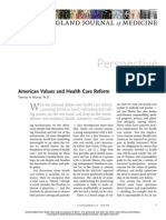 American Values and Health Care Reform