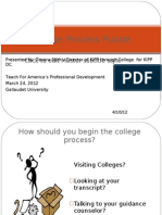 The College Process Puzzle PowerPoint