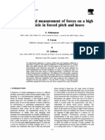 Calculation and Measurement of Forces on a High Speed Vehicle in Forced Pitch and Heave