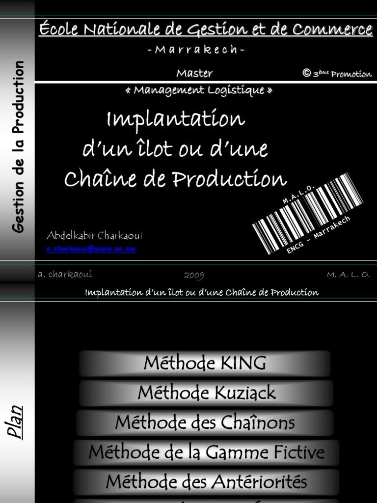 Gestion de La Production Implentation Cours Malo ...